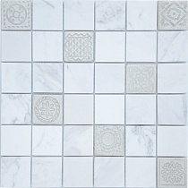 30х30 Мозаика Art Travertino Silver MAT 48x48х8