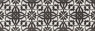 Декор 25х75 Velutti black decor 01